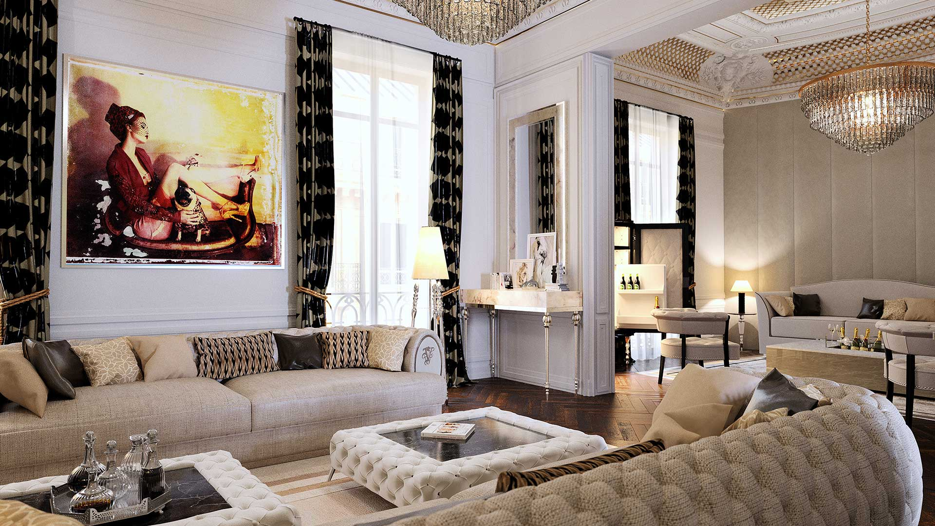 agence 3 lyon studio cr ation 3d salon de luxe haussmann. Black Bedroom Furniture Sets. Home Design Ideas