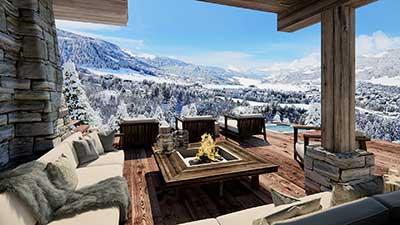 Création de vue 3d de terrasse en image de synthèses.