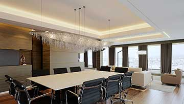 Creation of a 3D luxurious VIP office - Architect interior design.