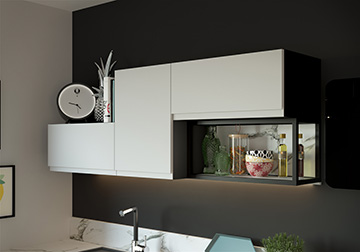 Rendu 3D d'une étagère de cuisine pour une publicité - Valentinstudio