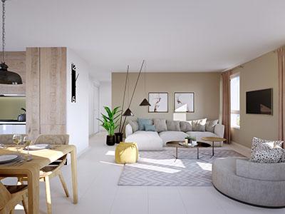 Visualisation 3D des intérieurs d'un appartement moderne