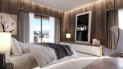 3D Photo for the real estate promotion of a luxurious chalet.