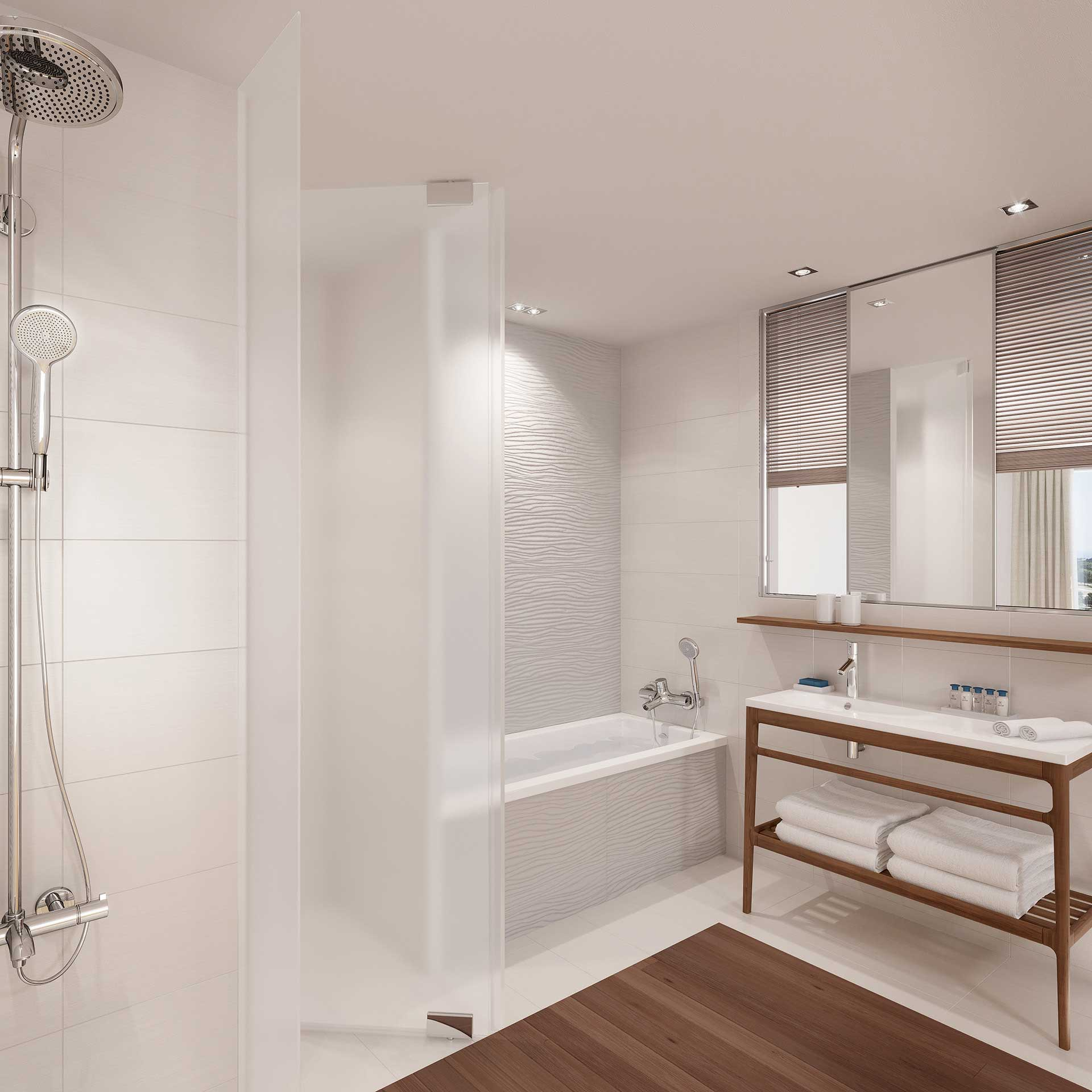 3D Perspective of a bathroom made from computer generated images
