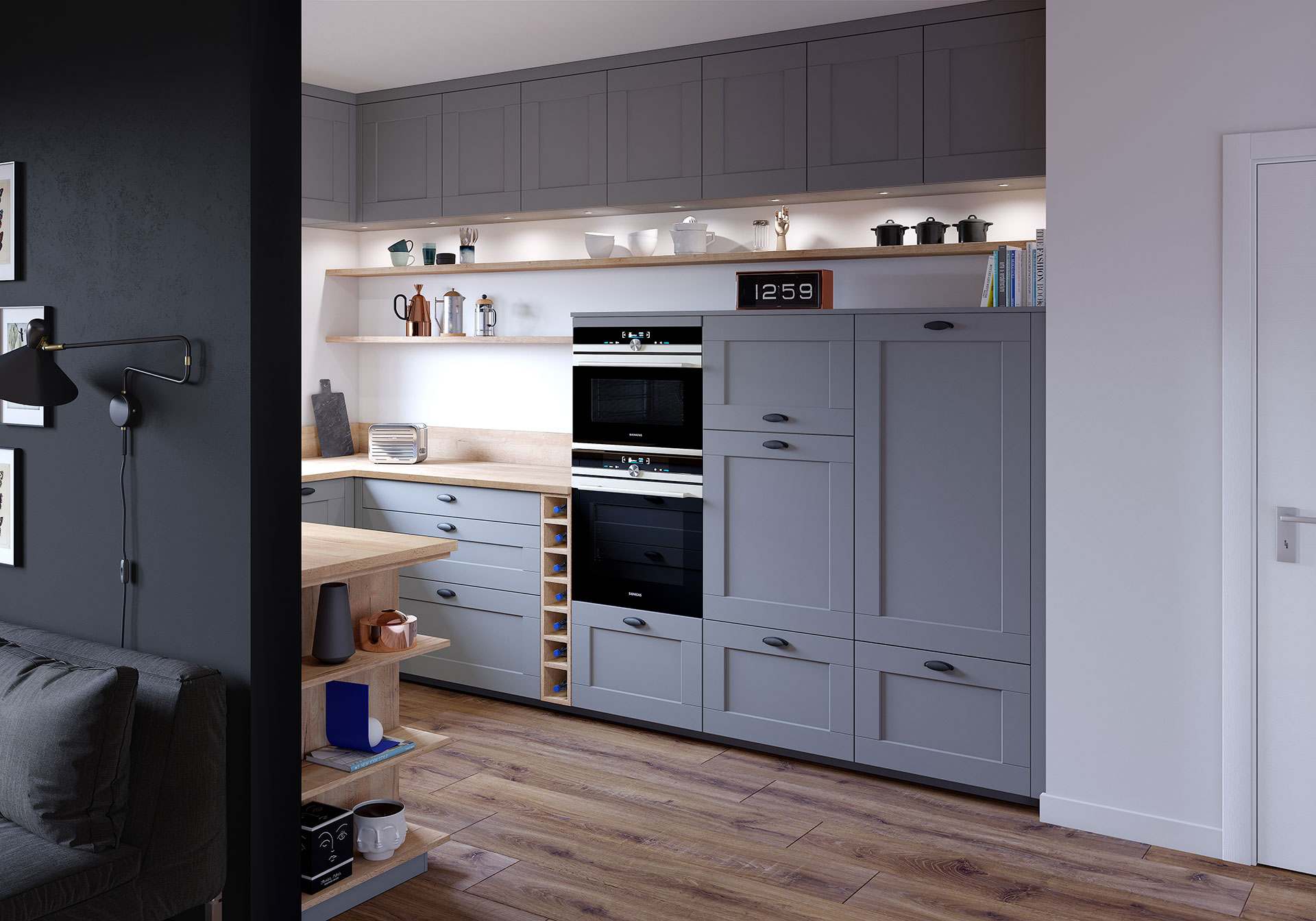 Ad project - 3D visualization of kitchen furniture
