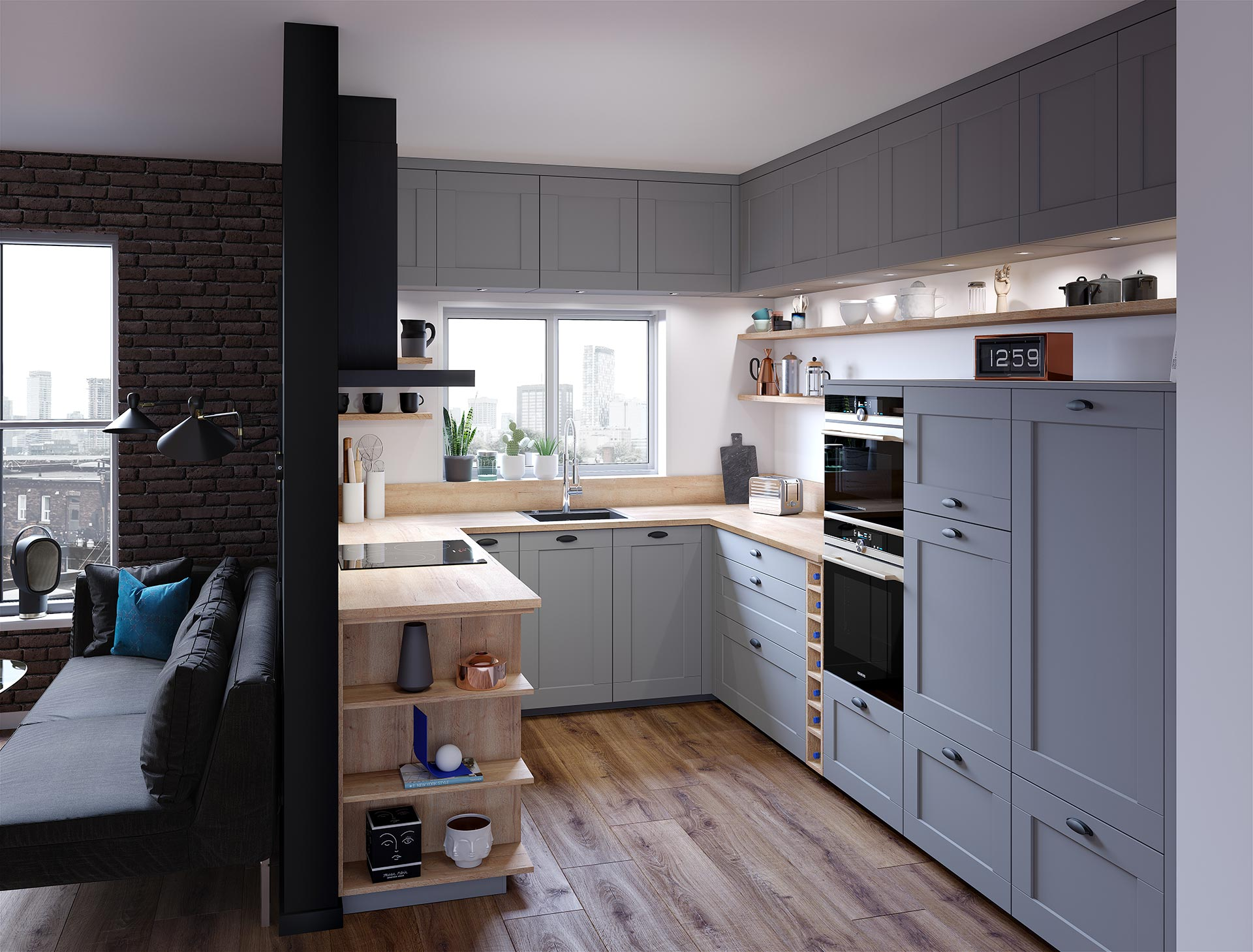 Advertising project - 3D kitchen image