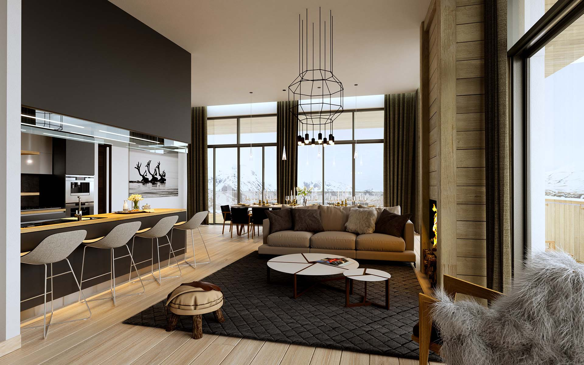 Our 3D architects produce your 3D renderings of real estate projects.