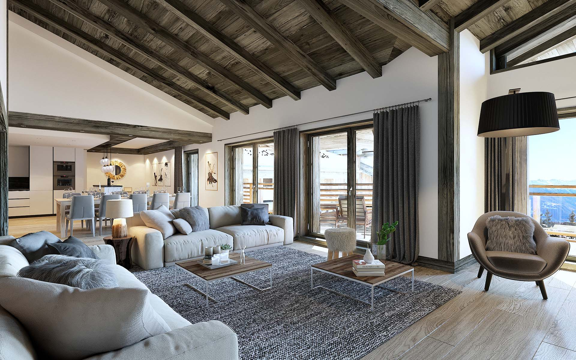 3 dimensional view of a luxurious apartment created by a qualified 3D studio.