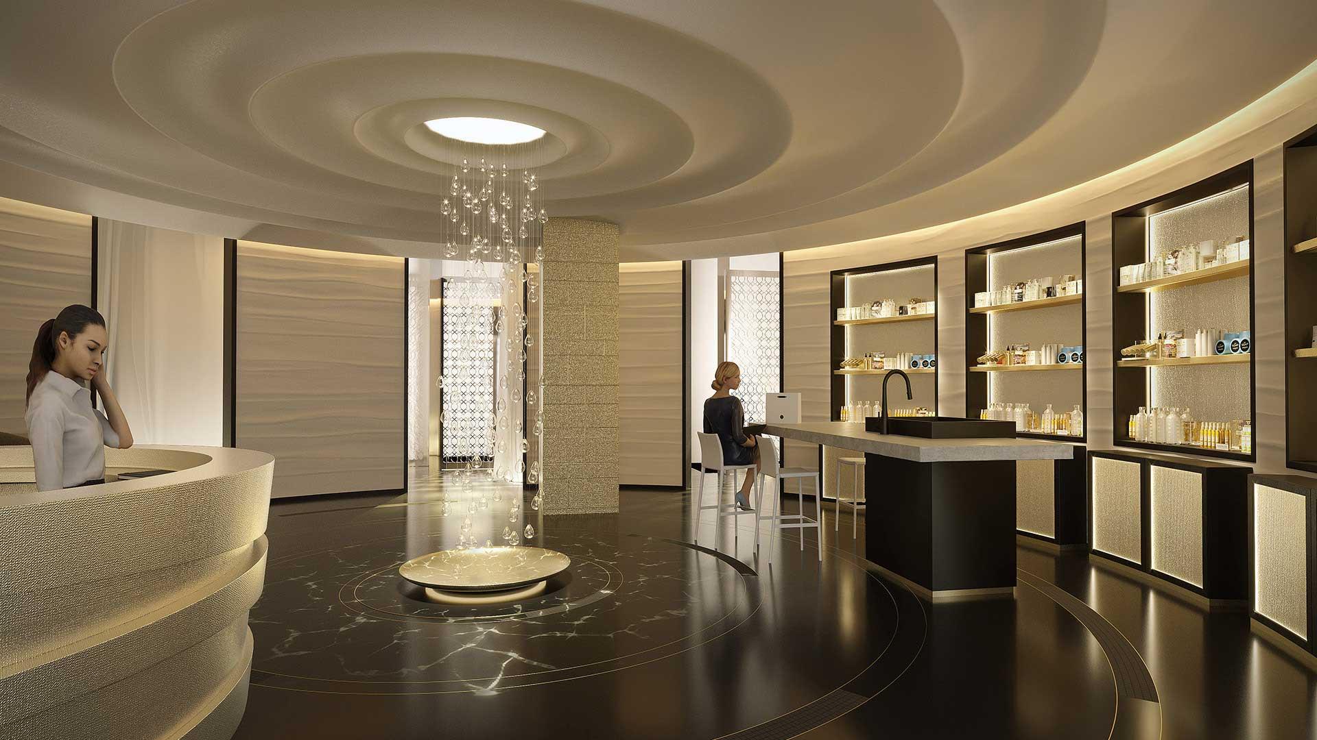 3D Photo interior : Luxurious spa.