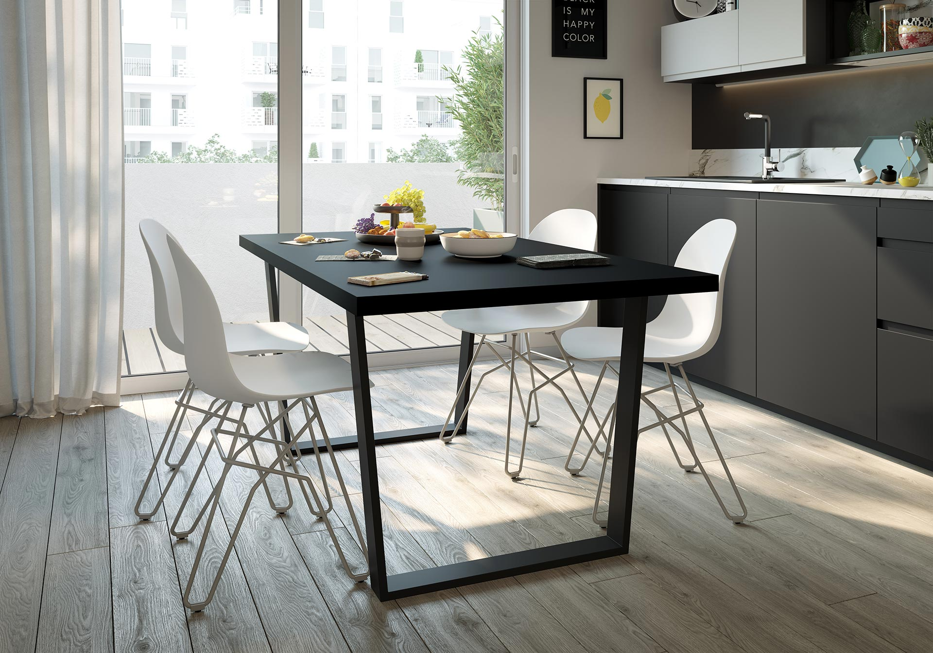 3D Visualization of kitchen furniture - Ad project