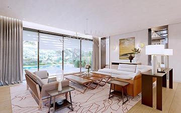 Creation of 3D interior - Real estate villa project