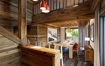 3D Graphic production - Mountain apartment interior