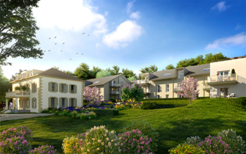 3D architectural visualization of new residence exterior