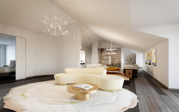 3D Render of luxury living-room for a villa project