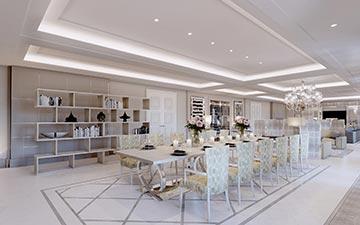 Creation of lunchroom 3D render