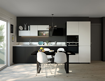 Ad program - 3D perspective of a kitchen