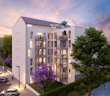 3D exterior architectural visualization of a building for its promotion - 3D Studio