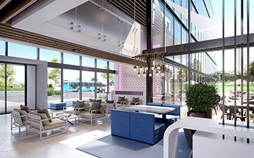 Creation of a 3D hotel lobby for its development