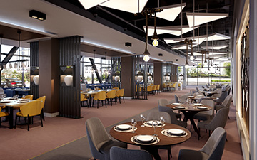 3D restaurant visualization for the development of a hotel