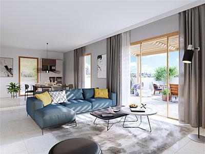 Appartement neuf et moderne réalisé en 3D