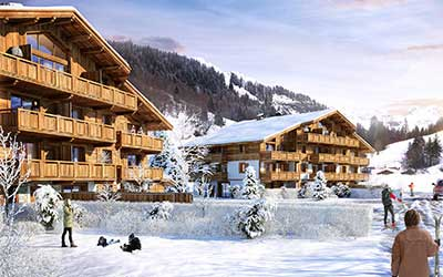 Creation of 3D content for the real estate promotion of a luxurious chalet in La Guettaz (Savoie).