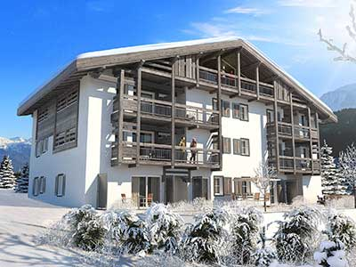 3D graphic design agency: creation of 3D perspectives for a luxurious chalet.