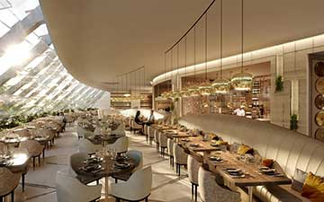 Photo of a 3D perspective of a restaurant created by Valentin Studio.