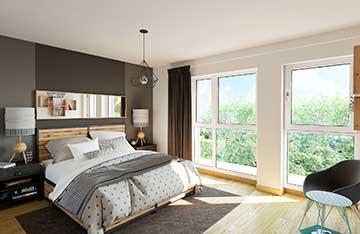 Image 3D d'une chambre d'appartement de luxe - Promotion immobilière.