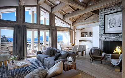 Projet immobilier perspective 3D : Penthouse de luxe.