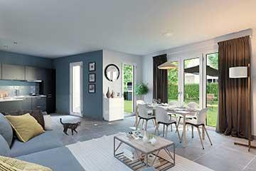 Salon en 3D - Projet immobilier - Agence graphiste 3D