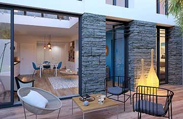 Creation of a 3 dimensional terrace - 3D Real Estate project