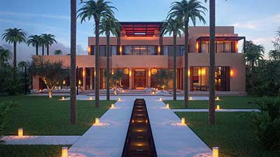 3D Showcase made from computer generated images for a real estate project of a luxurious villa in Morocco.